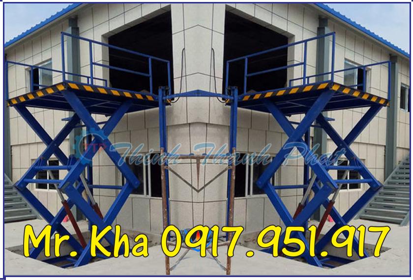 Ban nang thuy luc - Scissor lift table 003