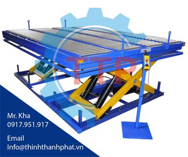 bàn nâng thủy lực - máy chế biến gỗ