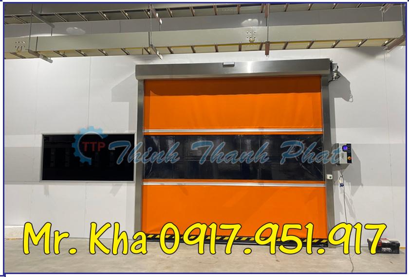 Cửa cuốn tốc độ cao - Cửa cuốn nhựa PVC Hàn Quốc 01