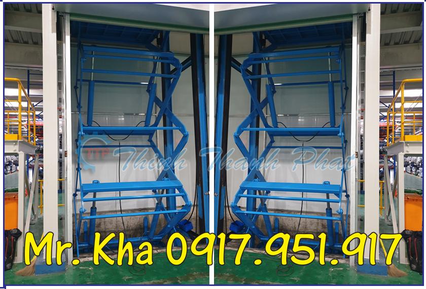 Thang nang thuy luc cargo scissor lift 03