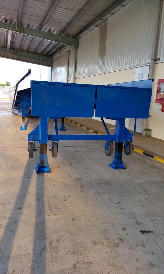 Cầu cho xe nâng đóng, rút hàng từ container
