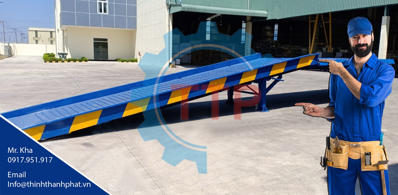 Cầu xe nâng di động (Container loading ramp)