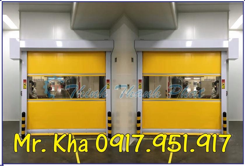 Cửa cuốn tốc độ cao - Cửa cuốn nhựa PVC Hàn Quốc