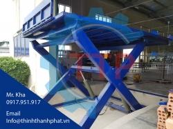 Bàn nâng thủy lực cho xe nâng lên Container