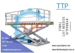 Bàn nâng thủy lực thẳng đứng - Hydraulic scissor lift table